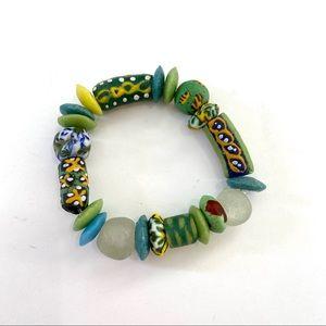 African Krobo Recycled Glass Beaded Bracelet